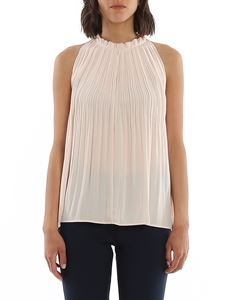 Dondup - Pleated detail crepe top