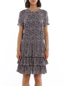 Michael Kors - Flounced georgette floral short dress