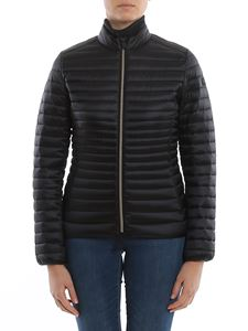 Save the duck - Eco-friendly fitted down jacket in black