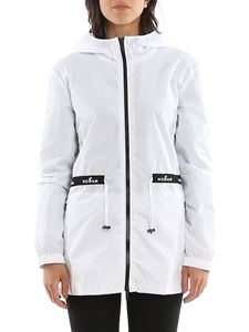 Hogan - Water repellent windbreaker in white