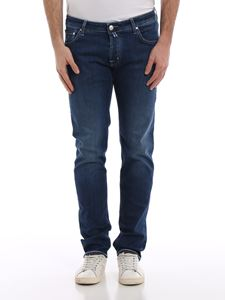 Jacob Cohën - Comfy denim five pocket jeans in blue