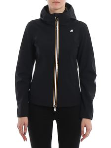 K-way - Lil Bonded Jersey jacket in black