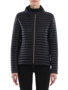 Save the duck - Quilted fabric puffer jacket in black