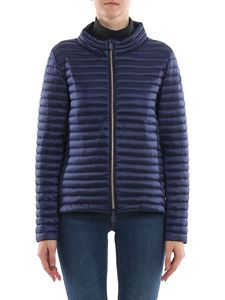 Save the duck - Quilted fabric ultralight down jacket in blue