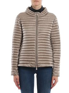 Save the duck - Quilted fabric down jacket in grey