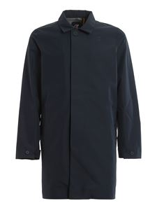 K-way - Benoit Bonded overcoat in blue