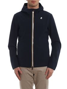 K-way - Jack bonded jersey hooded jacket in blue