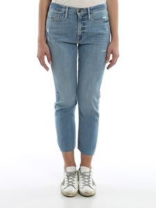 Frame - Faded denim jeans in light blue