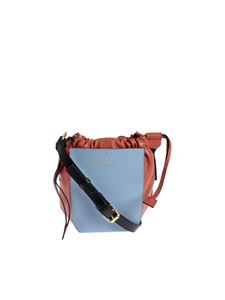 Marni - Gusset bag in light blue and brown
