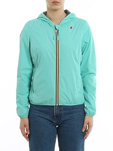 K-way - Lily Poly Jersey windbreaker in Green Light Pool color