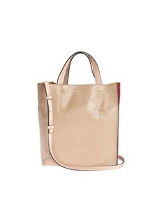 Marni - Museo Soft bag in beige and red
