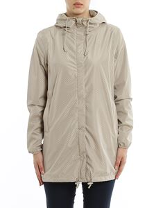 K-way - Sophie Double Drops long jacket in Beige Sand color
