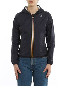 K-way - Lily Plus Double jacket in Blue Depht Grey color