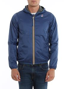 K-way - Jacques Jersey blue nylon jacket