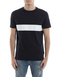 Fay - Contrasting band T-shirt in blue
