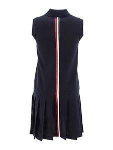 Thom Browne - Pleated skirt cotton dress