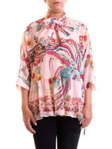 Red Valentino - Patterned cotton and silk blouse