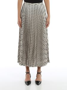Valentino - Printed skirt in ivory color