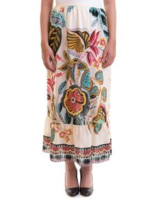 Red Valentino - Fiori Sinuosi print silk skirt