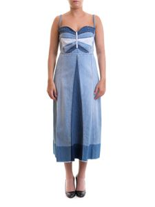 Red Valentino - Butterfly patch denim dress
