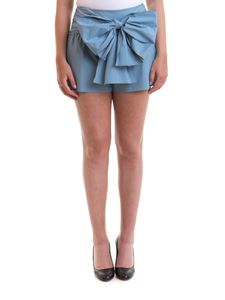 Red Valentino - Maxi bow poplin shorts