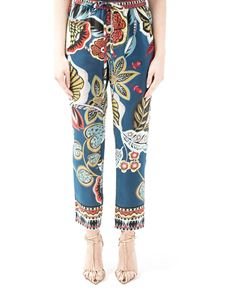 Red Valentino - Fiori Sinuosi print trousers
