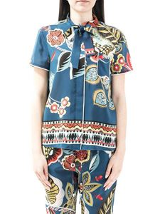 Red Valentino - Fiori Sinuosi print silk shirt