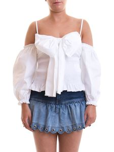 Red Valentino - Maxi bow poplin blouse