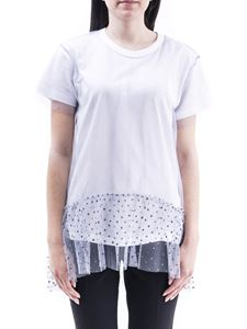 Red Valentino - Polka dot ruffle tulle and jersey T-shirt
