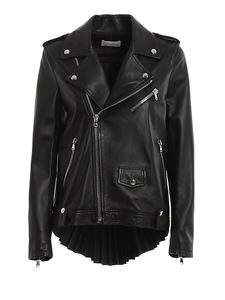 Red Valentino - Pleated back lambskin jacket