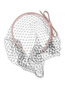Red Valentino - Leather headband with point d'esprit veil