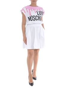 Moschino - Cotton short dress in white