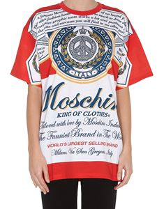 Moschino - Budweiser print t-shirt in red