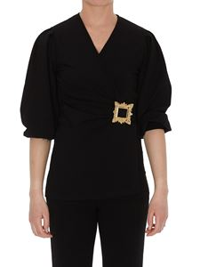 Moschino - Gold Frame blouse in black
