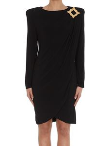 Moschino - Gold Frame jersey dress in black