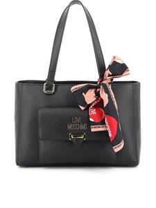 Love Moschino - Foulard detailed tote in black