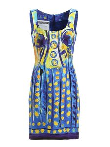 Moschino - Watercolour effect sheath dress
