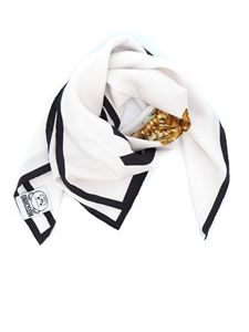 Moschino - Teddy Bear Frame silk foulard
