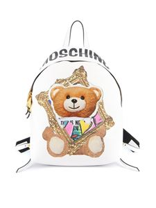 Moschino - Teddy Bear Frame backpack in white