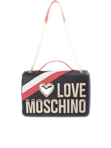 Love Moschino - Borsa con logo in rilievo nera