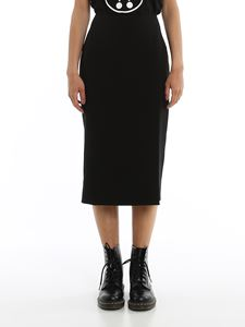 Moschino - Side vent pencil skirt in black