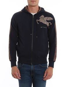 Etro - Hooded sweatshirt in blue