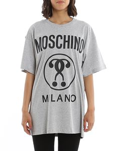 Moschino - Maxi logo over t-shirt in grey