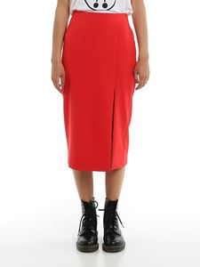 Moschino - Side vent pencil skirt in red