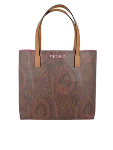 Etro - Paisley print shopping bag in brown