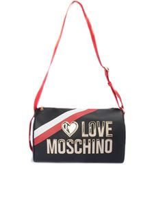 Love Moschino - Borsone con logo in rilievo nero