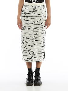 Moschino - Side vent cotton pencil skirt in white