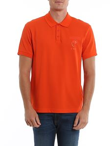 Moschino - Cotton logo polo in red