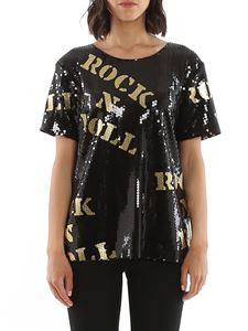 Moschino - Hollywood Stencils sequin t-shirt in black