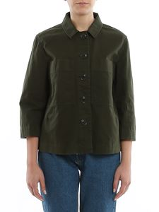 Aspesi - Shirt-style cotton drill shirt in green